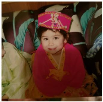 Erin Yun as a child