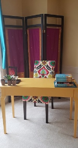 Supriya Kelkar's writing desk