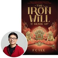 author F.C. Yee and cover of his book The Iron Will of Genie Lo
