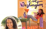 Janae Marks and the cover of her novel, From the Desk of Zoe Washington