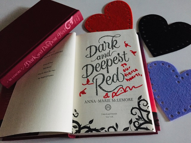 Image of a signed copy of Dark and Deepest Red, by Anna-Marie McLemore