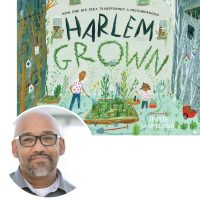 author tony hillery and the cover of his book Harlem Grown