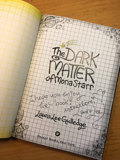 The title page of The Dark Matter of Mona Starr, a graphic novel by Laura Lee Gulledge.