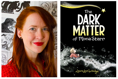 Author Laura Lee Gulledge and the cover of her graphic novel The Dark Matter of Mona Starr.