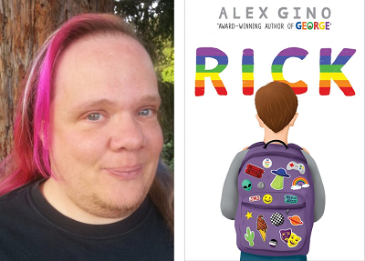 Author Alex Gino and the cover of their novel Rick.