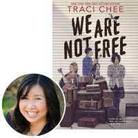 Author Traci Chee and the cover of her YA novel We Are Not Free