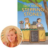 author Lucy Knisley and the cover of her new graphic novel Stepping Stones