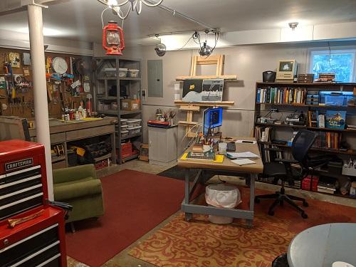 John Hare's studio.