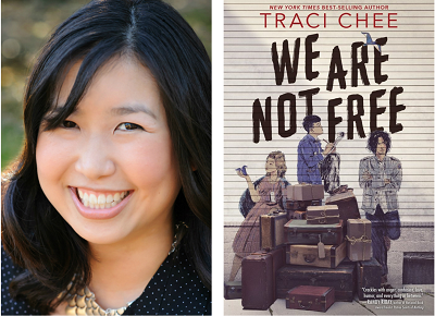 Author Traci Chee and the cover of her new YA novel, We Are Not Free.