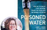 Candy Cooper and the cover of her book Poisoned Water