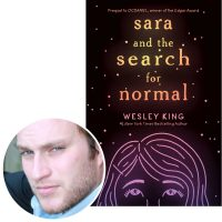 author Wesley King and the cover of his novel Sara and the Search for Normal