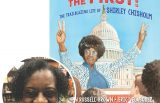Katheryn Russell-Brown and the cover of her book She Was First
