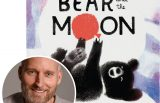 Matthew Burgess and the cover of his picture book The Bear and the Moon