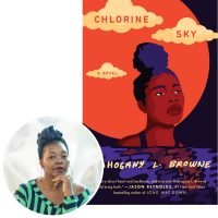Mahogany Browne and the cover of Chlorine Sky