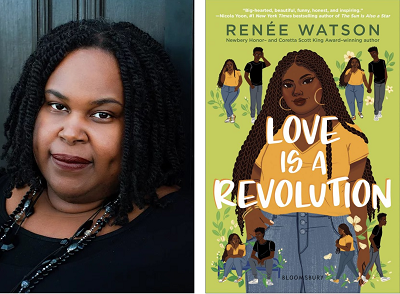 Renée Watson and the cover of Love Is a Revolution