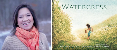 Andrea Wang and the cover of Watercress.