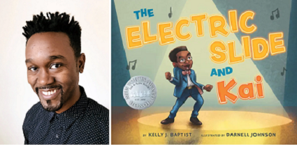 Darnell Johnson and the cover of The Electric Slide and Kai.