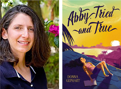 Donna Gephart and the cover of Abby, Tried and True