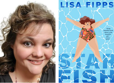 Author Lisa Fipps and the cover of Starfish.