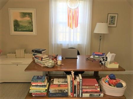 Author Kate Albus's writing desk.