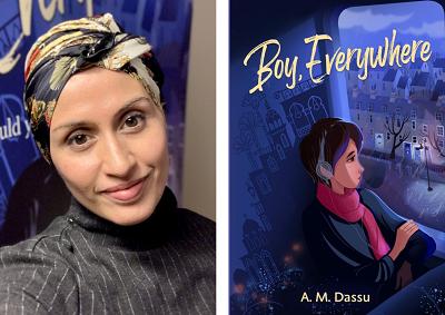 A.M. Dassu and the cover of Boy, Everywhere