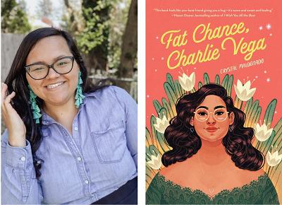 Crystal Maldonado and the cover of Fat Chance, Charlie Vega.