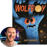 Andy Harkness and the cover of Wolfboy