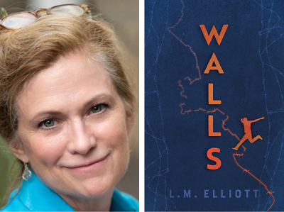 L.M. Elliott and the cover of Walls