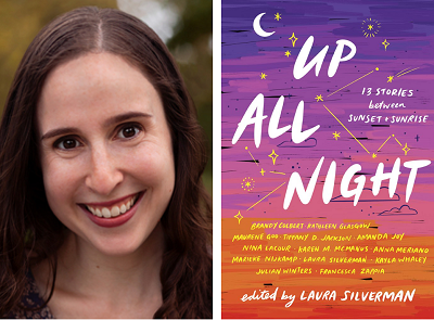Laura Silverman and the cover of Up All Night