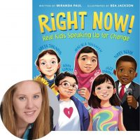 Miranda Paul and the cover of Right Now