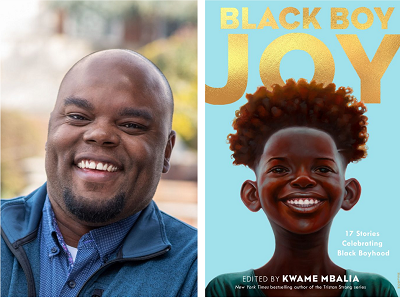 Kwame Mbalia and the cover of Black Boy Joy