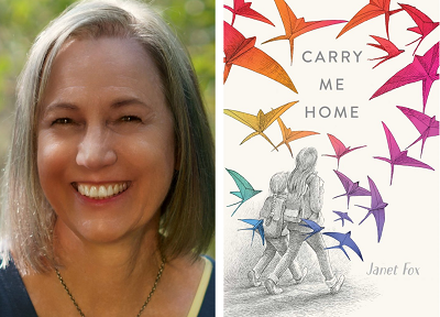 Janet Fox and the cover of Carry Me Hone