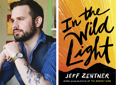 Jeff Zentner and the cover of In the Wild Light.