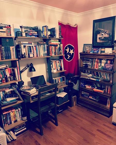 Jeff Zentner's writing studio.